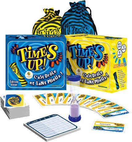 Boîtes et éléments du jeu Time's up