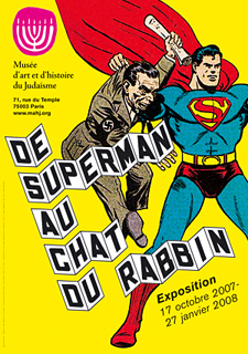Affiche de l'exposition De Superman au chat du Rabbin