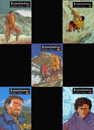 Cinq numéros du manga Le sommet des dieux