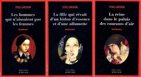 Les trois tomes de Millénium