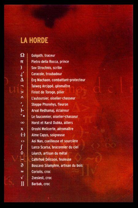 Liste des personnages associés à leur symbole