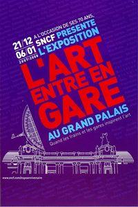Affiche de l'exposition L'art entre en gare