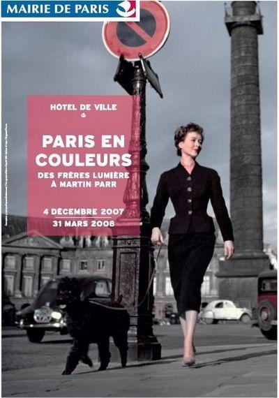 Affiche de l'exposition Paris en couleurs