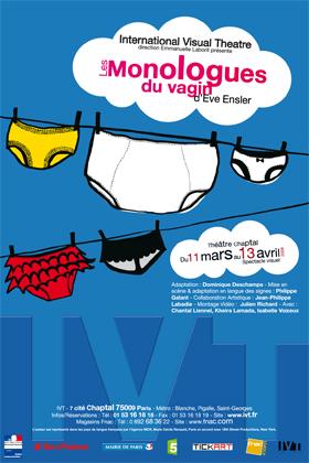 Affiche de la pièce Les monologues du vagin