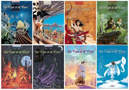Les huit premiers tomes de De capes et de crocs