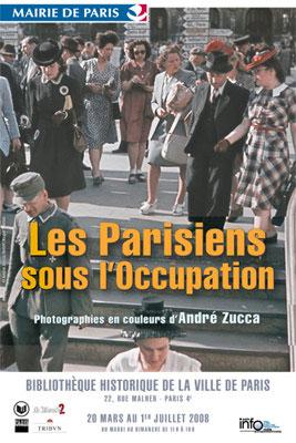 Affiche de l'exposition Parisiens sous l'Occupation