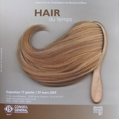 Affiche de l'exposition Hair du temps