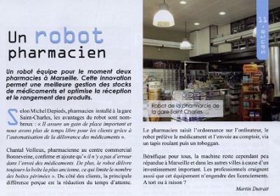 Article sur les robots en pharmacie