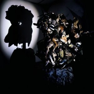 L'éclairage d'un amas d'animaux empaillés créé deux bustes en ombre chinoise