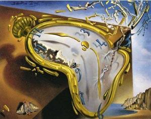 Une peinture de Dali représentant une montre toute molle
