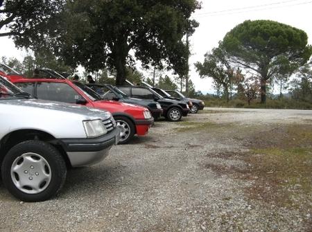 Rangée de Peugeot 205