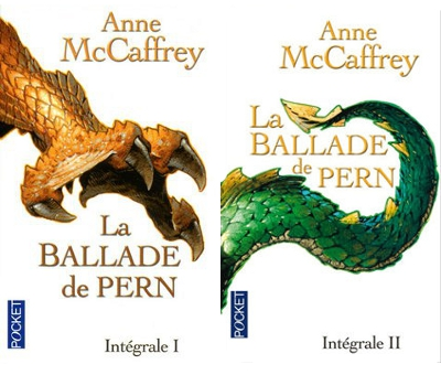 Les deux premiers tomes de la ballade de Pern