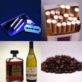 Cocaïne, tabac, café, alcool
