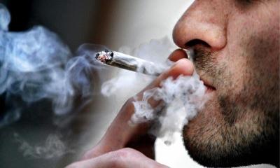 Joint fumé par la bouche