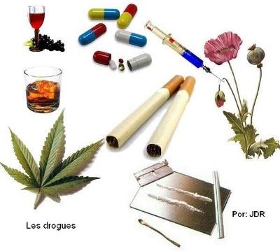 Drogues : cannabis, pavot, alcool, tabac, cocaïne, médicaments, seringue...