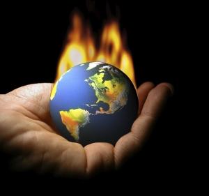 La Terre brûlant sur le creux d'une main