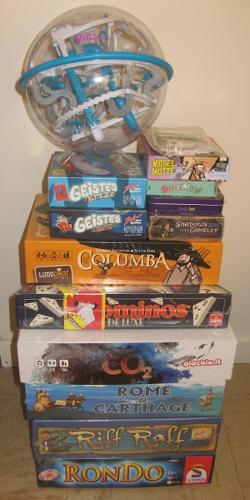 Pile des jeux achetés par Sirtin