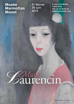 Affiche de la rétrospective sur Marie Laurencin