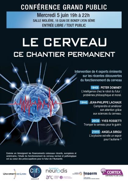 Affiche de la conférence Le cerveau, ce chantier permanent