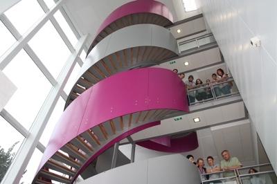 Escalier en forme d'ADN de l'Institut Génomique Fonctionnelle de Lyon
