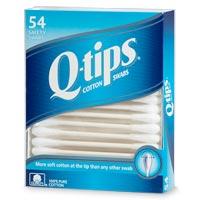 Boîte de coton-tiges de la marque Q-tips