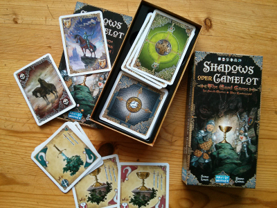 Boite et cartes du jeu Shadows over Camelot
