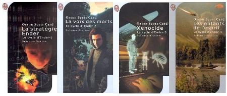 Couverture des quatre livres du cycle d'Ender