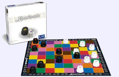 Boite et plateau du jeu Kamisado
