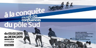 Affiche exposition A la conquête du pôle Sud