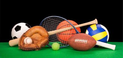 Raquettes et ballons différents