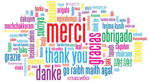 Merci dans plusieurs langues