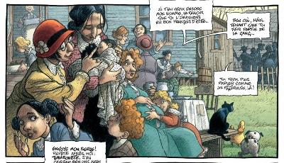 Femmes enceintes et mamans avec leur petit - une case de la BD du Magasin Général Tome 4