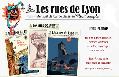Trois exemplaires du journal Les Rues de Lyon