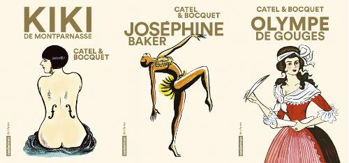 Kiki de Montparnasse, Joséphine Baker et Olympe de Gouges