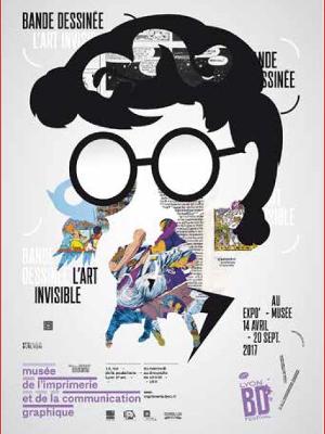 Affiche de l'exposition Bande dessinée : l'art invisible